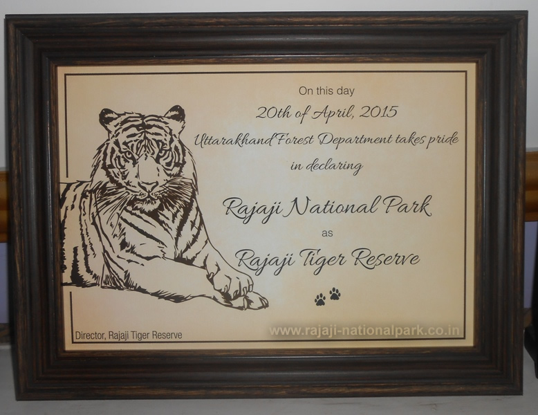 Declaration Rajaji as Tiger Reserve of India